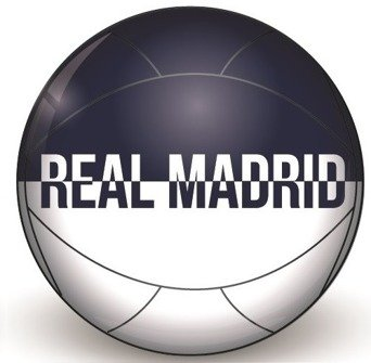 BALON GRANDE REAL MADRID COLOR BLANCO AUL MARINO