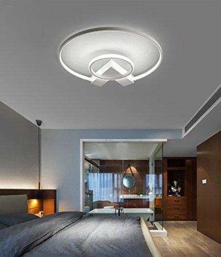 Henley LED-Deckenleuchte Modern 38W LED Lampen Zwei Ring Deckenbeleuchtung Deckenstrahler Wohnzimmer Schlafzimmer Lampe Acryl Weiß Deckenlampe für Flur Innenbeleuchtung Design Leuchte, Dimmbar -
