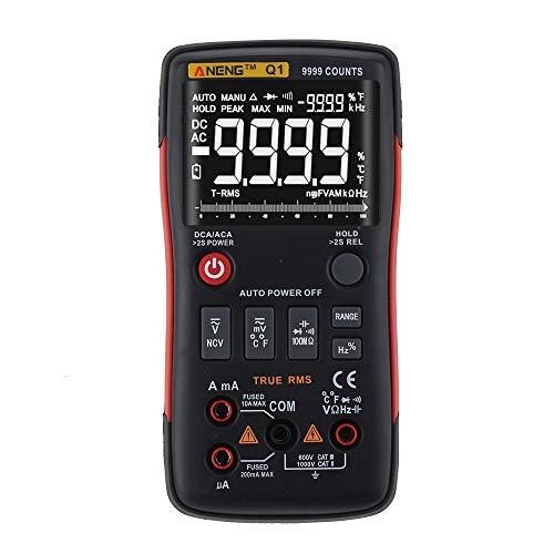 Digital Multimeter ANENG Q1 9999 Veri RMS AC DC Spannung Spannung Widerstand Temperatur-Tester Automatischer Tiro/Manueller Grafischer Barrel-Grafik. (Grafik-multimeter)