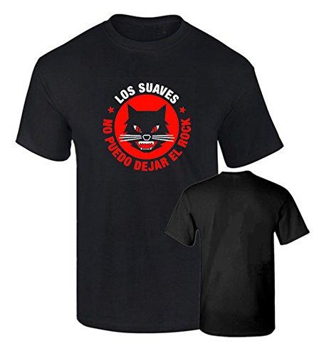 Camiseta LOS Suaves Rock español Algodon Calidad 190grs (L)