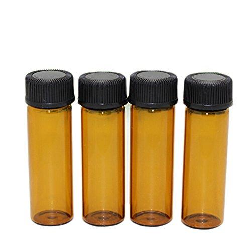 Nuovo 30PCS vetro ambra 5ml/0.17oz Olio Essenziale Profumi bottiglia contenitore barattolo flaconcini con foro riduttore e tappo