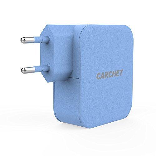 CARCHET Caricatore USB da muro, 4 Porte USB 4,2A 21W,
