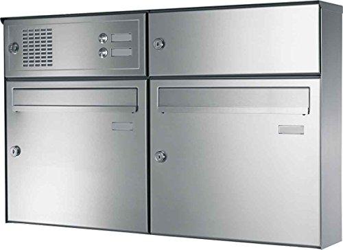 Elcom AP-Briefkasten-Anlage EAT-2/2 Ed,LSP,2xKli,2xEinw Briefkasten 4250111860628