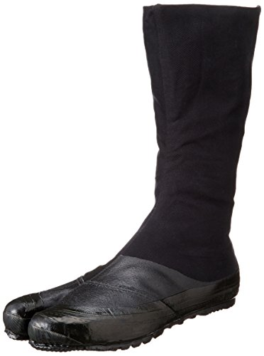 MARUGO Jitsuyou Japanische Tabi Schuhe KOMPLETT Schwarz mit 12 Clips