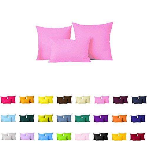 Paar (2pc) Farbe Kissen Bezug/Kissen Fall, Polyester-Mischgewebe, cherry blossom pink, 26 ' x 26'