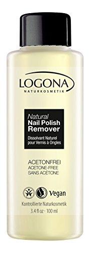 LOGONA Naturkosmetik Natural Nail Nagellack-Entferner, Ohne Aceton und geruchsarm, Natürliche Rohstoffe, Vegan, 100ml - Natürliche Remover