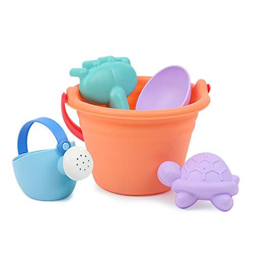 JK 5-teiliges Sandspielzeug-Set für Kinder, Strandeimer, Strandschaufel, Sandkasten-Spielzeug für Kleinkinder, Outdoor Play