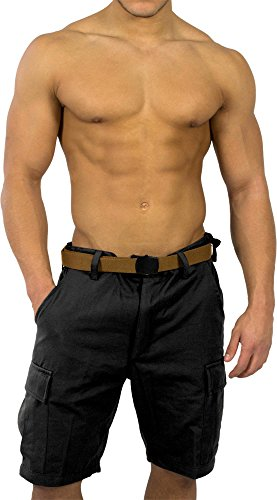 BDU Bermuda Short für Herren Farbe Schwarz Größe L (Schwarze Bermuda-shorts)