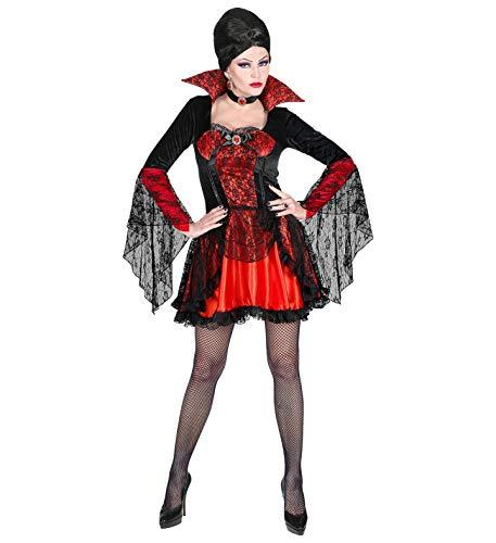 Nerd Clear Vampir Damen Kostüm |Halloween Karneval Motto-Party Vampirin Frauen Kostüm | Größe S-L: Größe : ()