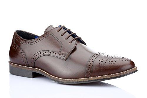 Red Tape Männer Claydon Brown Formale Schuhe (Rindleder-leder-slip)