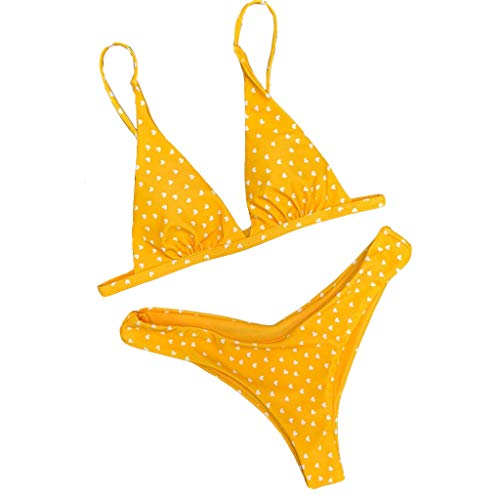 5a745ff4f8182d Kabeloring Les Femmes Aiment imprimerTaille Haute Simple Push Up Chic Sexy  Confortable Triangle Swimwear Plage(