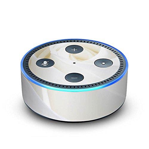 amazon Echo Dot 2.Generation Folie Skin Sticker aus Vinyl-Folie Rose White Romantik