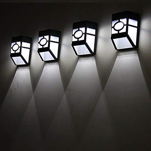 TianranRT Solar 2 LED Im Freien Garten Mauer Pfad Hof Landschaft Licht (A) (Freien Im Uhrenarmbänder)