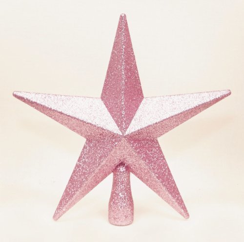 pink-christmas-tree-top-star-topper-glitter-finish-20cm-by-premier
