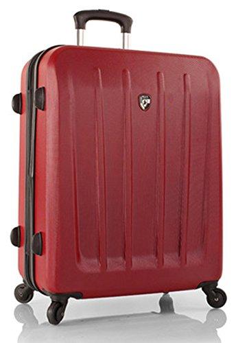 ... 50% SALE ... PREMIUM DESIGNER Hartschalen Koffer - Heys Core Delta Rot - Trolley mit 4 Rollen Medium Rot
