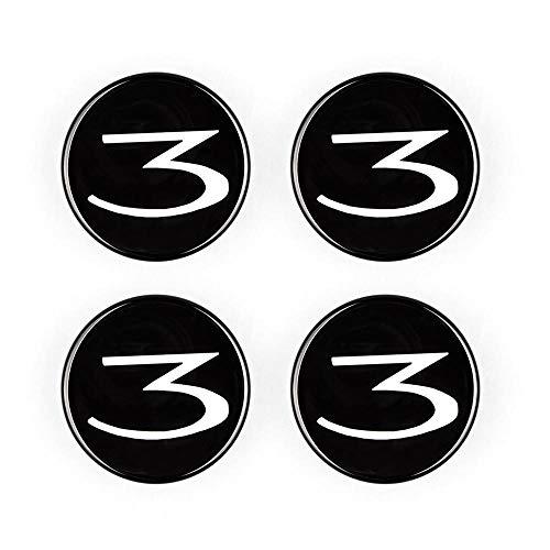 Tenlso 4 Piezas Hub Cap para Tesla Model 3, Personalización Personalizada de Logos para Tesla