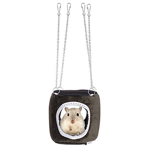 UEETEK Pequeña hamaca para mascotas Hamaca colgando Snuggle Cabaña para hámster Ardilla Chinchilla Guinea Pig