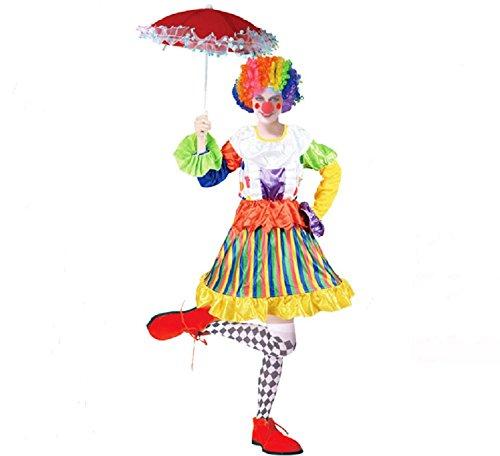 Matissa Costumi da Clown pagliacci per Adulti Accessori da Uomo e da Donna Clown (Clown Style 12 (155-172 CM))