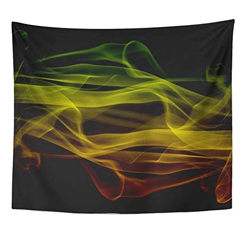 Liumiang Wandteppiche Wall Hanging Exotic Colorful Abstract Grunge Reggae Colors Green Yellow Red Aged Blank Board Dirty Tablecloth Tapestry for Bedroom Living Room Dorm 50x60 Inches Wall Art Custom (Dirty Board)