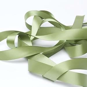 Ruban Satin vert Olive 9 mm Longueur 10 m