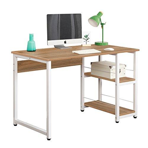 Soges scrivania per computer scrivania pc computer di legno tavolo ufficio scaffale,quercia dz013-120-ok