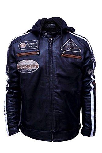 Urban Leather UR-05 58 Veste pour Homme, Noir, 2XL