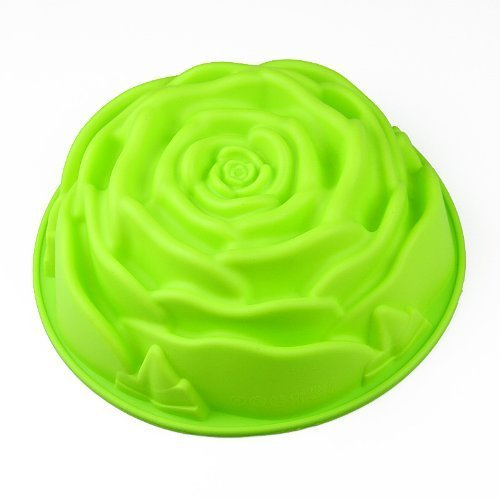 Wholeport Silicone Cake Mold Mould Cake Pan Ice Mold Pizza Mold Big Rose Mold by Wholeport