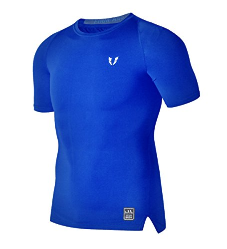 FIRM ABS Crew Neck Activewear Top Double Dry Performance T-Shirt For Men (Double T-shirt Dry Performance)