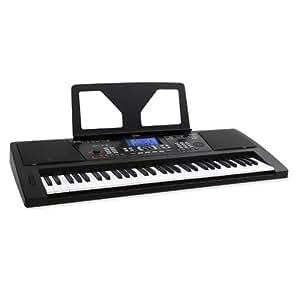 Schubert Sub61 Clavier synthétiseur multifonction pour débutants ou confirmés (bibliothèque de 128 instruments, séquences rythmiques, ordinateur de bord, pupitre) - noir