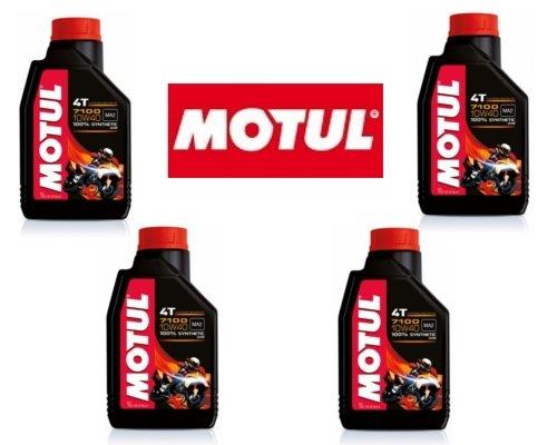 4 LT LITRI OLIO motore moto 4t MOTUL 7100 10W40 100% Sintetico NEW Est