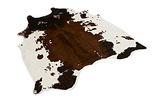 Tapis noir imitation peau de vache, imprimé animal, tapis pour la maison 135 x 140 cm