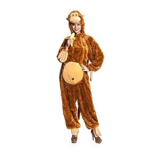 Kostumplanet Affen Kostum Damen Affe Overall Witziges Damen Kostum