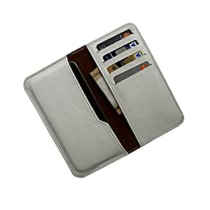 i-KitPit : PU Leather Wallet Flip Pouch Case For HTC One Max (WHITE)