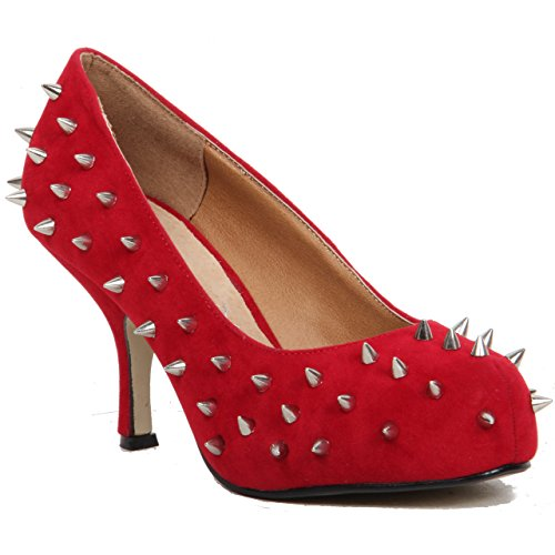 Unknown, Scarpe col tacco donna Rosso (rosso)