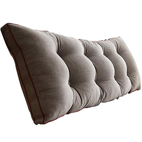 LPD-Stützbet Keilförmiges Bettkissen Baumwollbett Kissen Sofa Rückenkissen Doppel Lange Kissen Kissen Nacht Große Rückenlehne (Eine Vielzahl Von Spezifikationen Optional) (Size : 200x20x50cm)