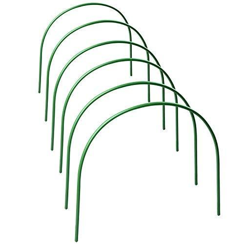 takefuns - confezione da 6 supporti per piante da giardino, telaio in tessuto, telaio di supporto per serra, tunnel per coltivare piante in tessuto, paletti da giardino, lunghezza 120 cm, in acciaio