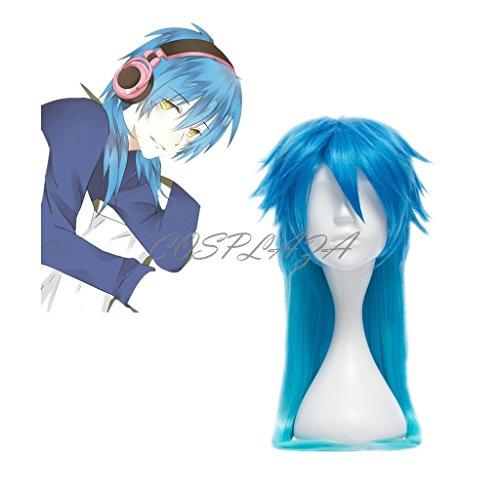 Cosplay Noiz Kostüm - COSPLAZA Perücke Cosplay Wig Dramatical Murder DMMD Seragaki Aoba gradient Blau Lang Boy Haar