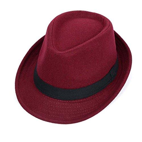 Petit automne chapeau et laine hiver chapeau masculin et chapeau de jazz féminin ( couleur : F ) L