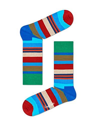 Happy Socks  MULTI STRIPE MST01-6000 Unisex Freizeitsocken Größe 36-40 -