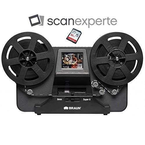 Reflecta Super 8 - Normal 8 Film Scanner inkl. 32 GB SD Karte und Scanexperte-Videoanleitung Super 8 Video Kamera
