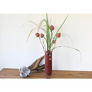 Designervase, handgefertigte Vase aus Ton, Röhrenvase