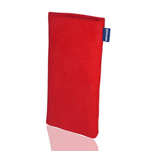 smartec24® Microcord Handytasche braun für ein iPhone 6 Plus Made in Germany. Hochwertige 100% passgenau gefertigte Handytasche (braun) rot