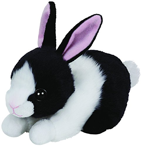 ty-ty41142-peluche-beanie-babies-small-lapin-noir-blanc