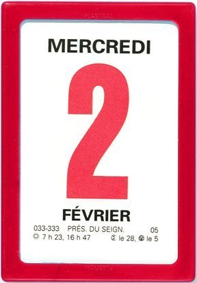 OBERTHUR - 1 Bloc Calendrier à Effeuiller Ephémérides Neutre - Janv. à Déc. 2018 - 9.2x6.3 cm