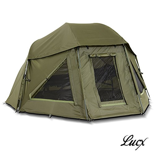 Lucx® Schirmzelt / Brolly / Shelter / Angelzelt / Karpfenzelt / Zelt / Campingzelt, 10.000mm Wassersäule