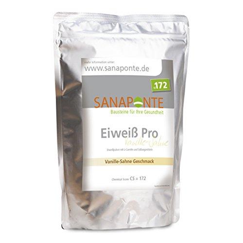 SANAPONTE Eiweiß Pro - 1000g Protein Pulver Vanille Geschmack