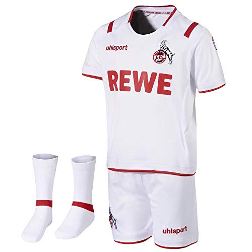 uhlsport Herren 1. FC KÖLN Mini-KIT 19/20 Fan-Artikel, weiß/rot, 104/110