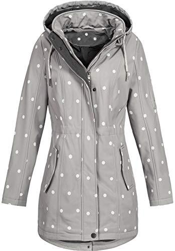 Top Fuel Fashion Damen Softshelljacke Kurzmantel Ivana Alloy/White Dots S