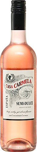 6x-075l-2016er-Casa-Carmela-Rosado-semi-dulce-Yecla-DO-Spanien-Ros-Wein-lieblich