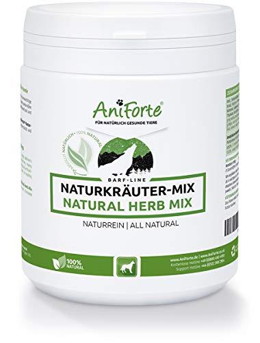 AniForte Barf Naturkräuter Mix für Hunde 250 g - Naturprodukt, Unterstützung Verdauung, Optimiert Immunsystem, Perfekte Ergänzung zum Barfen